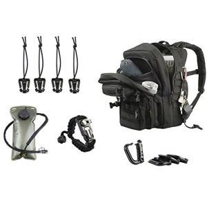 ミリタリーバックパックKragzmen Tactical Backpack 3-Day Assault Pack w/ 2L Hydration Bladder & para Cord Survival Bracel|planetdream