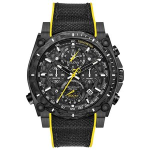 当店1年保証 ブローバBulova Men's Stainless Steel Quartz Sport Watch with Rubber Strap, Black, 22.1 (Model: 98B312)|planetdream