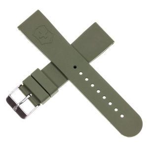 当店1年保証 ビクトリノックスGenuine Victorinox Swiss Army Maverick Dive Green Rubber Strap Diver Watch Band 22mm|planetdream