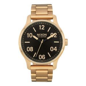 当店1年保証 ニクソンNixon Men's Patrol SS Watch Gold Black 42mm|planetdream