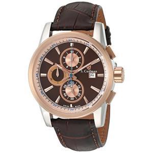 当店1年保証 S.Coifman(コイフマン)S. Coifman 'Men's' Swiss Quartz Stainless Steel and Leather Watch, Color:Brown (M|planetdream