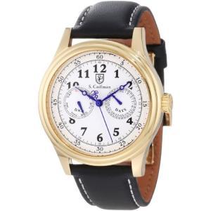 当店1年保証 S.Coifman(コイフマン)S. Coifman Men's SC0277 White Dial Black Leather Watch|planetdream