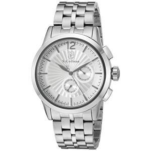 当店1年保証 S.Coifman(コイフマン)S. Coifman 'Men's Bracelet' Swiss Quartz Stainless Steel Watch, Color:Silver-Tone|planetdream