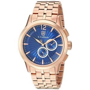 当店1年保証 S.Coifman(コイフマン)S. Coifman Men's Heritage Quartz Watch with Stainless Steel Strap, Rose Gold, 12|planetdream