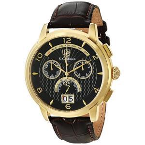 当店1年保証 S.Coifman(コイフマン)S. Coifman Men's Heritage Quartz Watch with Leather Calfskin Strap, Brown, 22 (Mo|planetdream