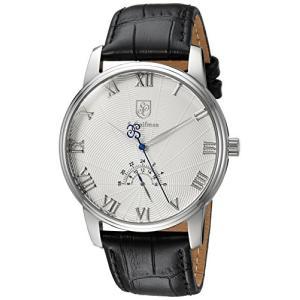 当店1年保証 S.Coifman(コイフマン)S. Coifman Men's Heritage Stainless Steel Quartz Watch with Leather Calfskin Stra|planetdream