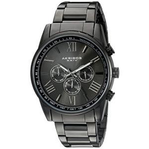 当店1年保証 アクリボスXXIVAkribos Multi-Function Stainless Steel Bracelet Watch - Three Hand Movement with Two Time Zo|planetdream