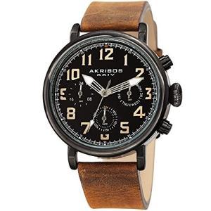 当店1年保証 アクリボスXXIVAkribos XXIV Men's Multifunction Antique Watch - 3 Subdials 24 Hour, Date, Day Large Arabic|planetdream