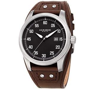 当店1年保証 アクリボスXXIVAkribos Classic Men's Cuff Strap Watch - Strong Classic Casing with Comfortable Full Coverag|planetdream