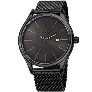 当店1年保証 アクリボスXXIVAkribos XXIV Black and Gunmetal Designer Men's Watch ? Classic and Casual Round Stainles|planetdream