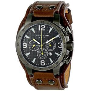 当店1年保証 アクリボスXXIVAkribos XXIV Men's Chronograph Watch - 3 Subdials, Seconds, Minutes and GMT plus Date Window|planetdream