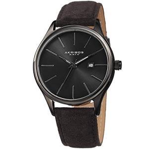 当店1年保証 アクリボスXXIVAkribos XXIV Men's Suede Leather Watch ? Classic Round Casual Designer Wristwatch with D|planetdream