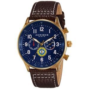 当店1年保証 アクリボスXXIVAkribos XXIV Multicolored Complications Men's Watch - 3 Subdials On Leather Calfskin with Wh|planetdream