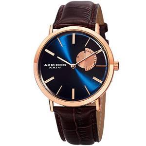 当店1年保証 アクリボスXXIVAkribos XXIV Essential Mens Dress Watch - Sunburst Effect Dial - Quartz Movement - Leather S|planetdream