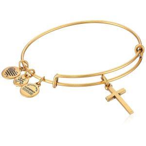 アレックスアンドアニAlex and Ani Womens Cross II EWB Bangle Bracelet, Rafaelian Gold, Expandable|planetdream