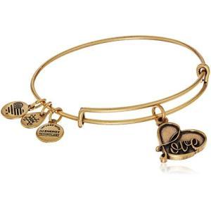 アレックスアンドアニAlex and Ani Love IV Rafaelian Gold Charm Bracelet|planetdream