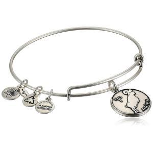 アレックスアンドアニAlex and Ani Aries II Expandable Rafaelian Silver-Tone Wire Bangle Bracelet,?7.25