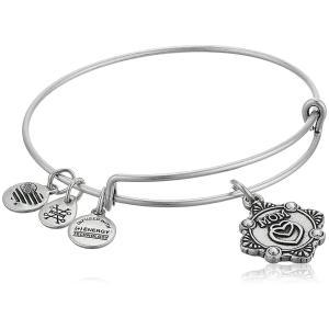 アレックスアンドアニAlex and Ani Womens Because I Love You, Mom Charm Bangle Bracelet, Rafaelian Silver, Expandable|planetdream