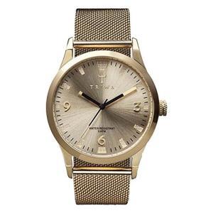 当店1年保証 トリワTriwa Unisex LAST114 Sort of Black Gold Watch with Gold Mesh Steel Band|planetdream