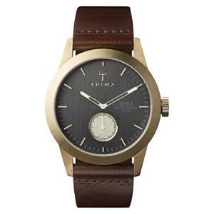 当店1年保証 トリワTriwa Ash Spira SPST101CL010413 Dark gray / Brown Leather Analog Quartz Men's Watch|planetdream