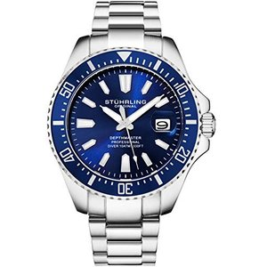 当店1年保証 ストゥーリングオリジナルStuhrling Original Blue Watches for Men - Pro Diver Watch - Sports Watch fo|planetdream