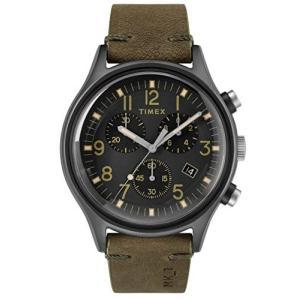 当店1年保証 タイメックスTimex Mens Chronograph Quartz Watch with Leather Strap TW2R96600 planetdream