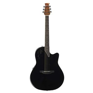 オベーションOvation Applause 6 String Acoustic-Electric Guitar, Right, Black, Mid-Depth (AE44II-5)|planetdream