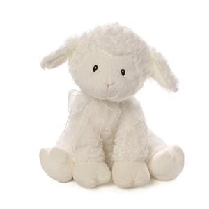 ガンドBaby GUND Lena Lamb Brahms' Lullaby Musical Stuffed Animal Plush, White, 10