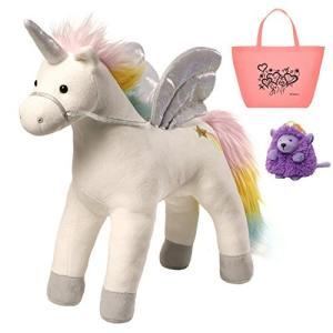 ガンドGUND Magical Unicorn Lights & Sound Plush Toy, Beanbag & Tote Bundle Set|planetdream