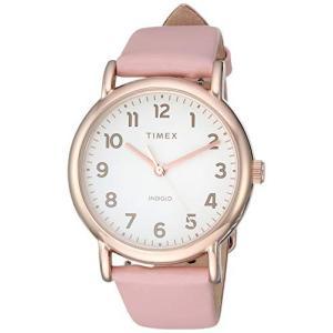 当店1年保証 タイメックスTimex Women's TW2T30900 Weekender 38 Pink/Rose Gold-Tone Leather Two-Piece Strap Watch planetdream