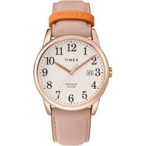 当店1年保証 タイメックスTimex Women's Easy Reader 38mm Analog Quartz Leather Strap, Pink, 20 Casual Watch (Model: TW2 planetdream