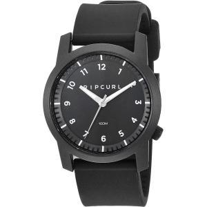 当店1年保証 リップカールRip Curl Men's Cambridge Quartz Sport Watch with Silicone Strap, Black, 22 (Model: A3088-BLK)|planetdream