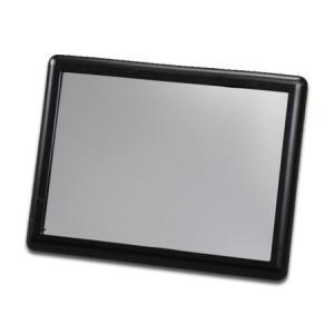 サンバイザー ミラー 鏡 バニティミラー 車内 座席 カー用品 カーアクセサリー メール便OK_CA-AA032BK-MON