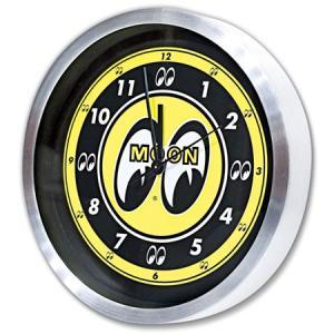ムーンアイズ 掛け時計 おしゃれ アメリカン インダストリアル 男前 インテリア ガレージ かっこいい アメリカン雑貨 MOON アルミウォールクロック|planfirst