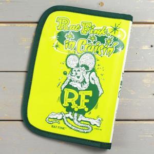 ラットフィンク 車検証入れ ケース かっこいい カー用品 カーアクセサリー キャラクター アメリカ Rat Fink グリーン メール便OK_DF-RAF504GR-MON planfirst