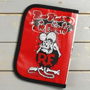 ラットフィンク 車検証入れ ケース かっこいい カー用品 カーアクセサリー キャラクター アメリカ Rat Fink レッド メール便OK_DF-RAF504RD-MON planfirst