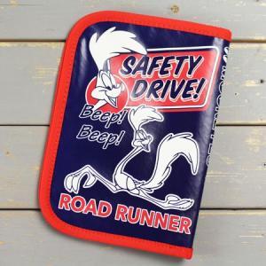 ロードランナー 車検証入れ ケース かっこいい カー用品 カーアクセサリー アメリカ ルーニー・テューンズ キャラクター メール便OK_DF-RR060-MON|planfirst