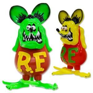 ラットフィンク フィギュア ソフビ ソフトビニール キャラクター アメリカ ホットロッド アメリカン雑貨 Vinyl Doll RatFink フローレセントカラー|planfirst