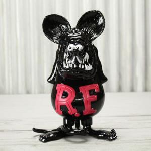 ラットフィンク フィギュア 限定 ソフトビニール キャラクター アメリカ ホットロッド Super Vinyl Collectible RatFink ピンクブラック_FG-RAF507BP-MON|planfirst