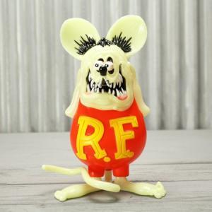 ラットフィンク フィギュア ソフビ ソフトビニール キャラクター アメリカ ホットロッド アメリカン雑貨 Super Vinyl Collectible 蓄光_FG-RAF507GD-MON|planfirst
