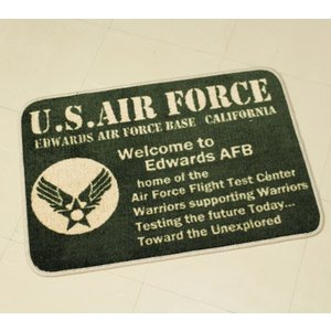 US AIR FORCE 玄関マット ミリタリー 室内 バスマット 滑り止め フロアーマット 世田谷ベース アメリカ空軍 アメリカ 雑貨 アメリカン雑貨_FM-81115-FEE