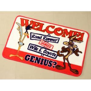 ロードランナー 玄関マット 室内  ルーニー・テューンズ バスマット 滑り止め フロアーマット アメリカン アメリカン雑貨 Genius_FM-RR057A-MON|planfirst