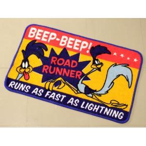 ロードランナー 玄関マット 室内  ルーニー・テューンズ バスマット 滑り止め フロアーマット アメリカン アメリカン雑貨 BeepBeep_FM-RR057B-MON|planfirst