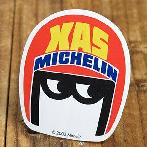 ステッカー 車 ミシュラン アメリカン おしゃれ バイク ヘルメット かっこいい タイヤ ビバンダム ミシュランマン Michelin XAS メール便OK_SC-R473-TMS|planfirst
