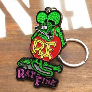 ラットフィンク メタルキーホルダー Rat Fink メール便OK_KH-RKF045-MON|planfirst