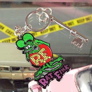 ラットフィンク メタルキーホルダー Rat Fink メール便OK_KH-RKF045-MON|planfirst|03