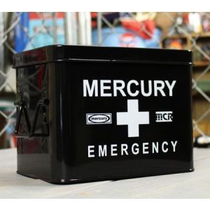 マーキュリー エマージェンシーボックス 救急箱 おしゃれ アンティーク レトロ スチール製 小物入れ アメリカ アメリカン雑貨 ブラック_MC-MEBUEBBK-MCR|planfirst