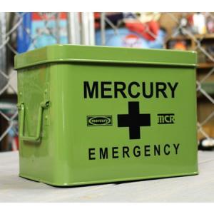 マーキュリー エマージェンシーボックス 救急箱 おしゃれ アンティーク レトロ スチール製 小物入れ アメリカ アメリカン雑貨 カーキ_MC-MEBUEBKH-MCR|planfirst