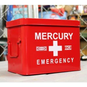 マーキュリー エマージェンシーボックス 救急箱 おしゃれ アンティーク レトロ スチール製 小物入れ アメリカ アメリカン雑貨 レッド_MC-MEBUEBRD-MCR|planfirst