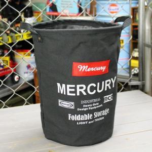 マーキュリー キャンバスバケツ バスケット ゴミ箱 小物入れ 収納 アメリカ アメリカン雑貨 サイズM ブラック_MC-MECABUMB-MCR|planfirst